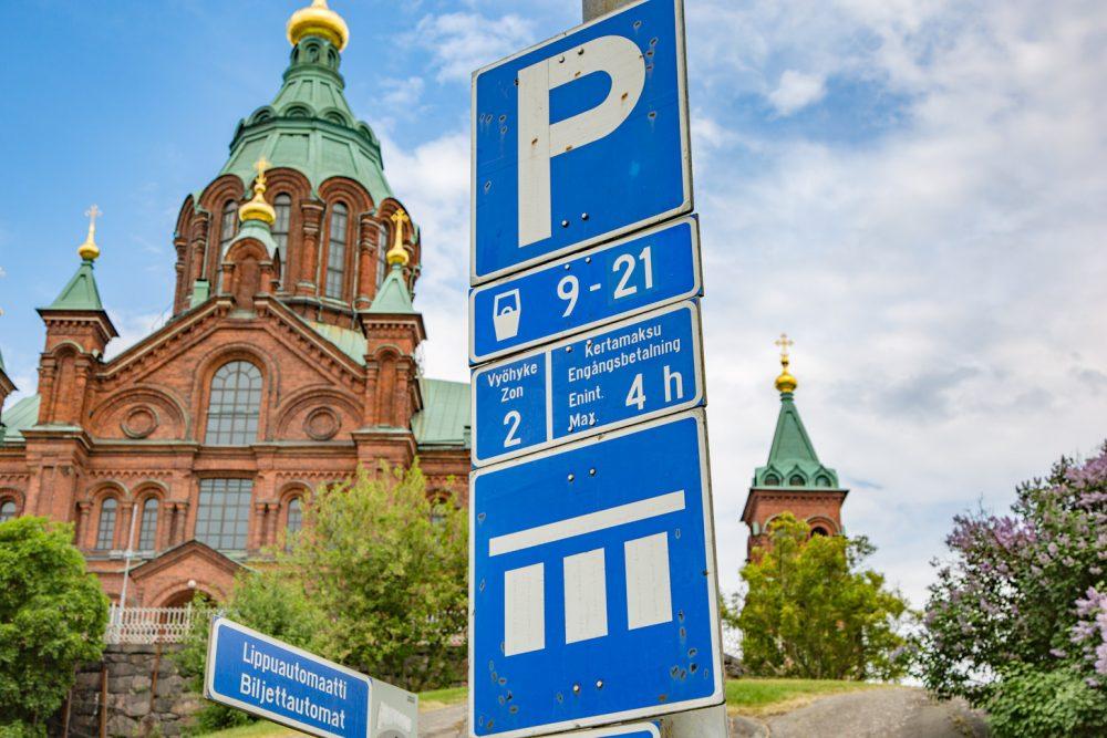 Parkeren kost geld in Helsinki