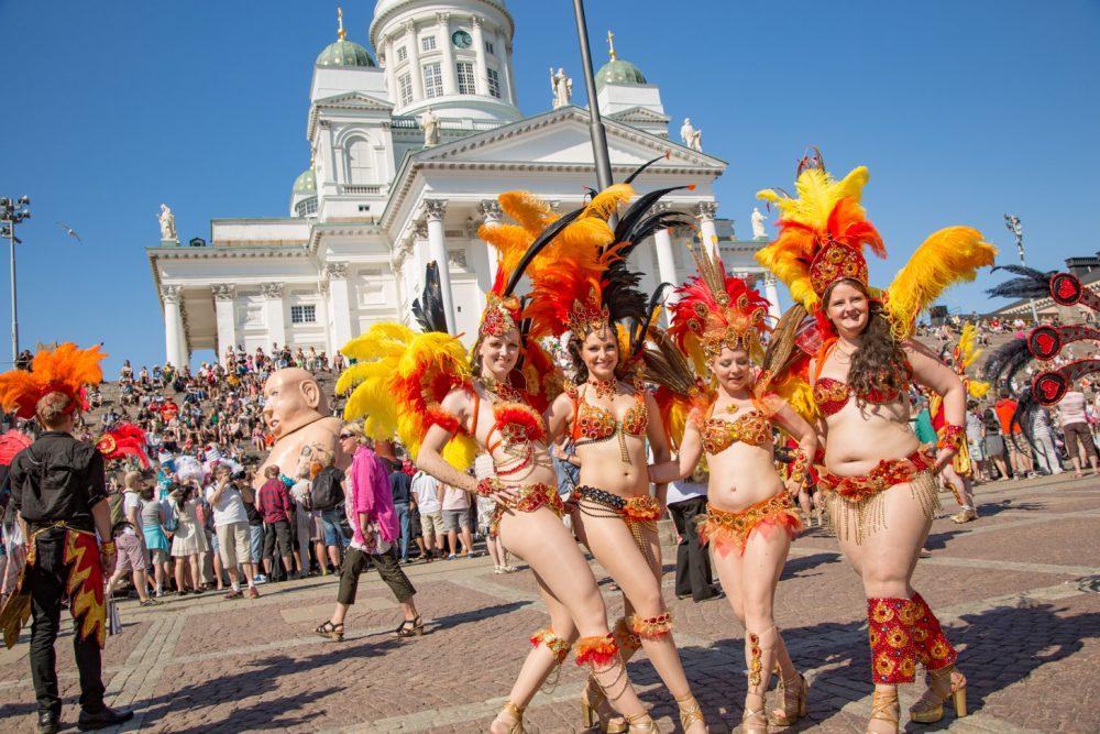 Samba-carnaval in Helsinki