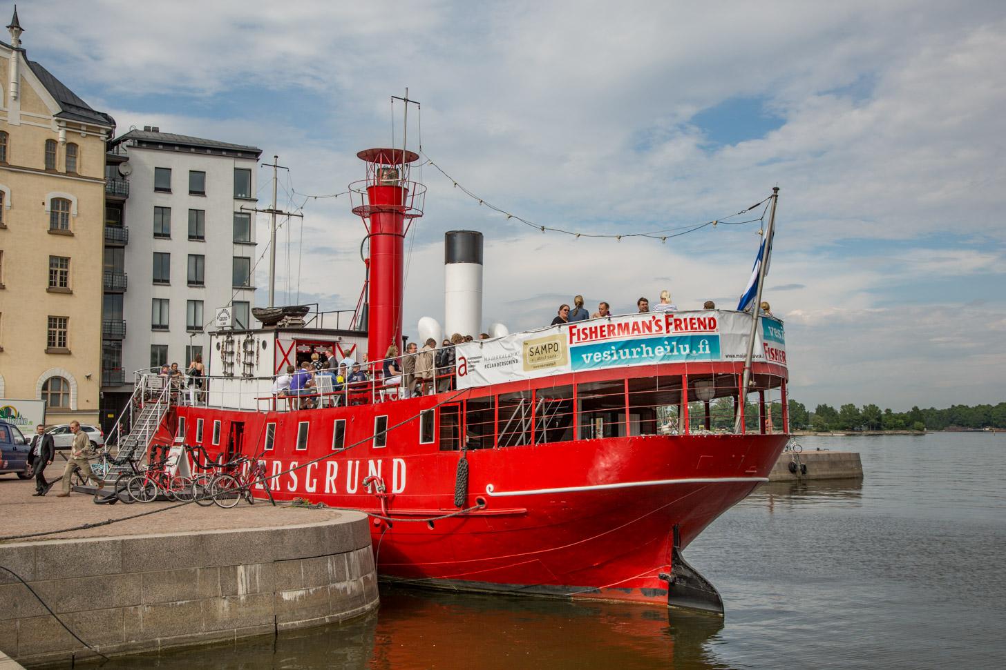 Helsinki ligt aan het water